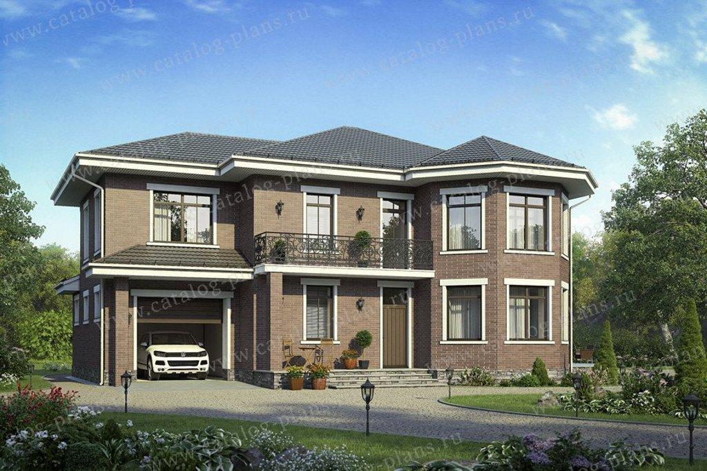 Проект жилой дом #58-44L материал - газобетон, стиль европейский