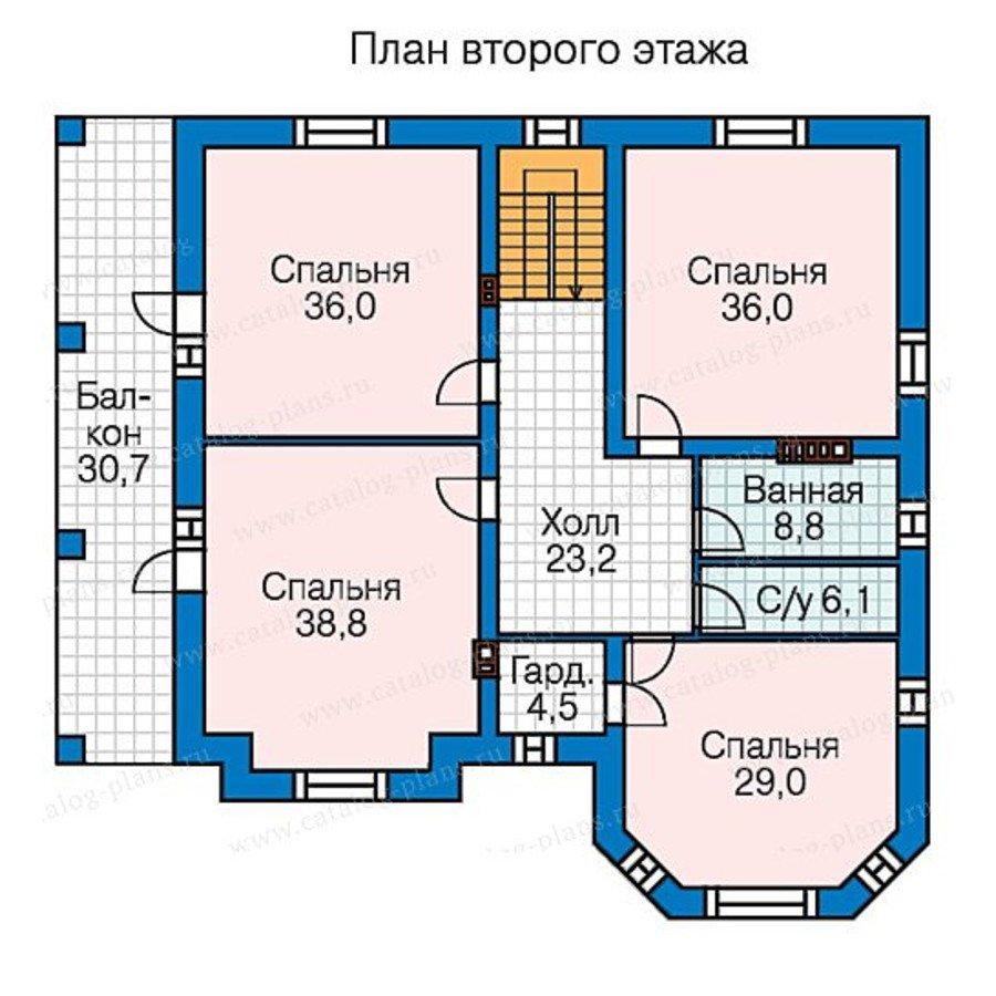 План 3-этажа проекта 58-48