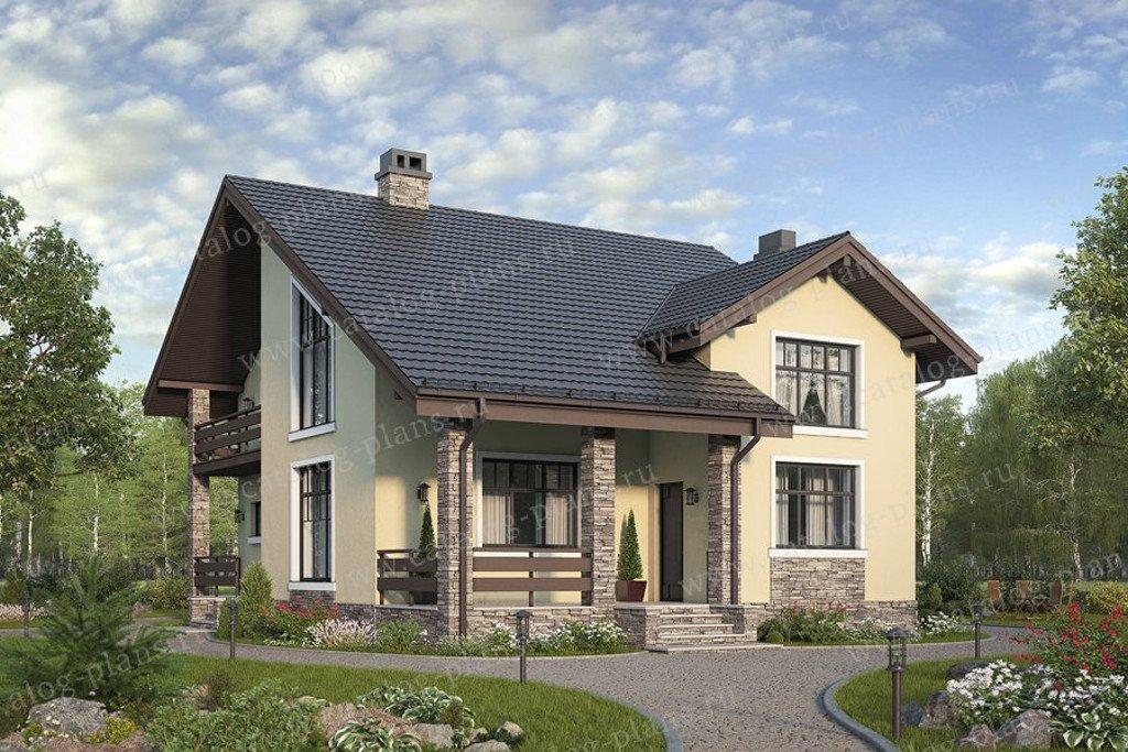 Проект жилой дом #58-47 материал - газобетон, стиль современный