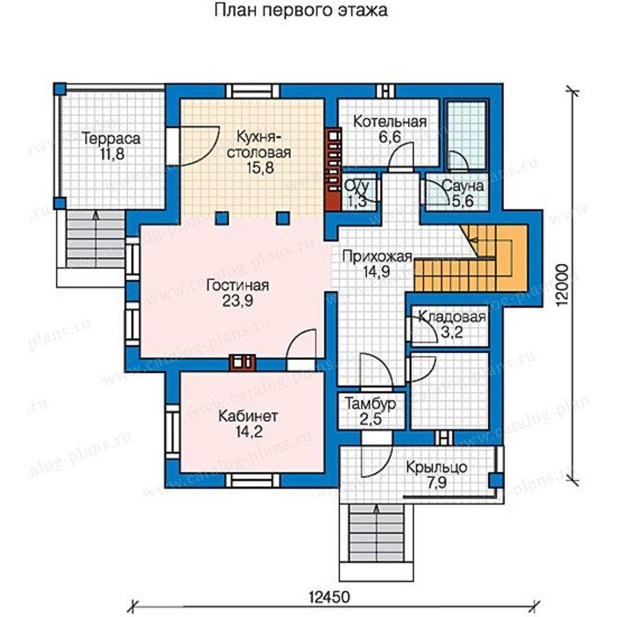 План 2-этажа проекта 58-49K