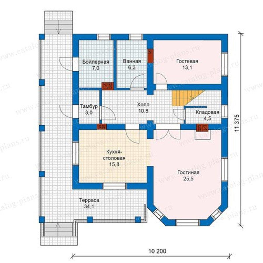 План 1-этажа проекта 59-92