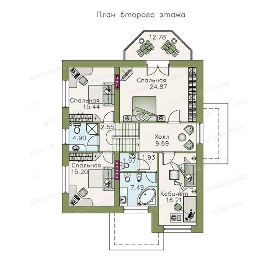 План 2-этажа проекта 48-00