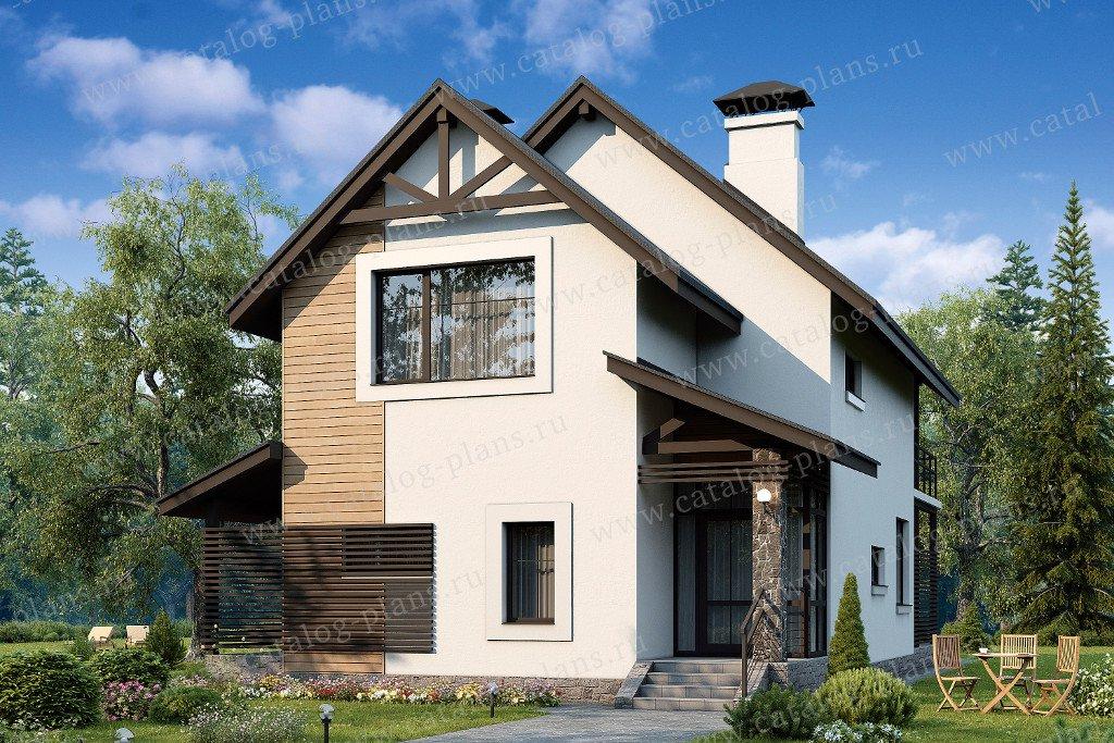 Проект жилой дом #48-05 материал - кирпич, стиль скандинавский
