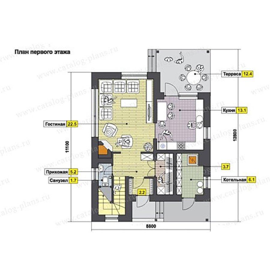 План 1-этажа проекта 49-97K