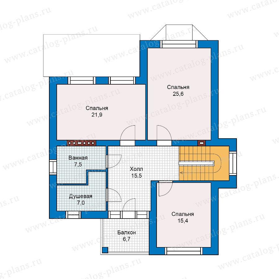 План 2-этажа проекта 48-01