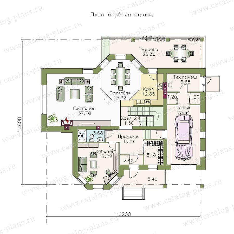 План 1-этажа проекта 48-04