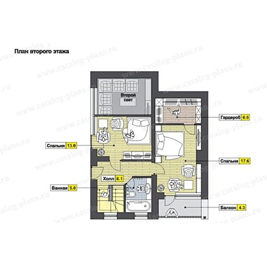 План 2-этажа проекта 49-97K