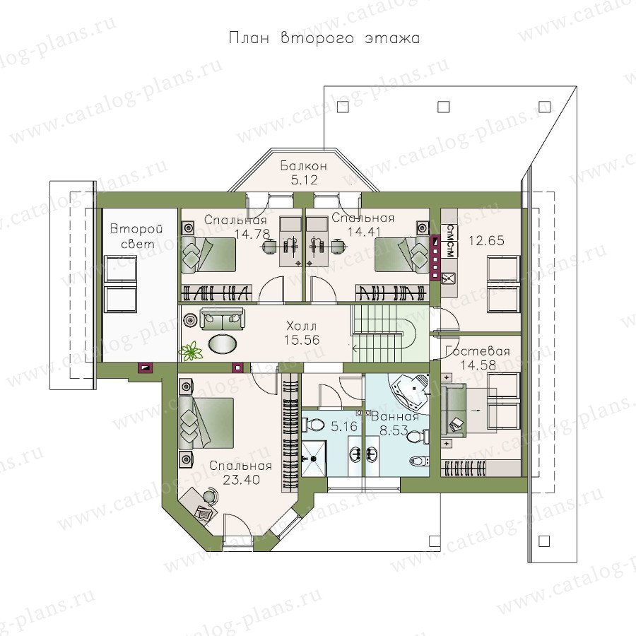 План 2-этажа проекта 48-04