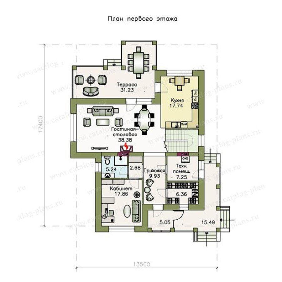 План 1-этажа проекта 48-07