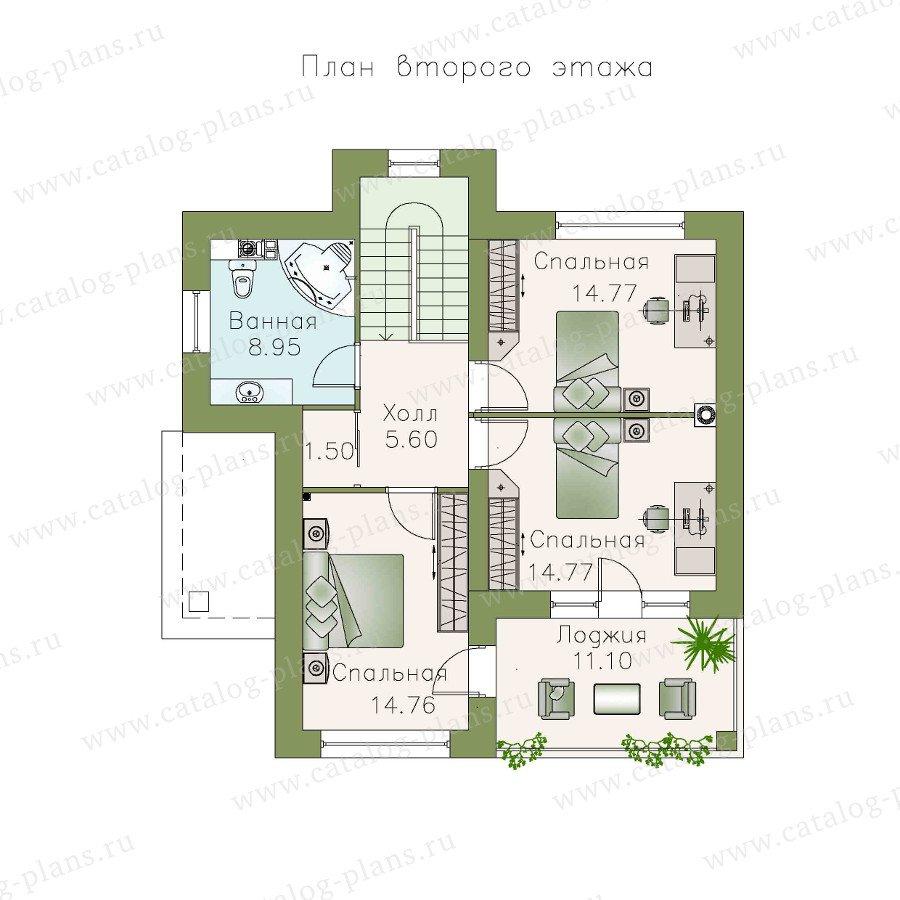 План 2-этажа проекта 48-03