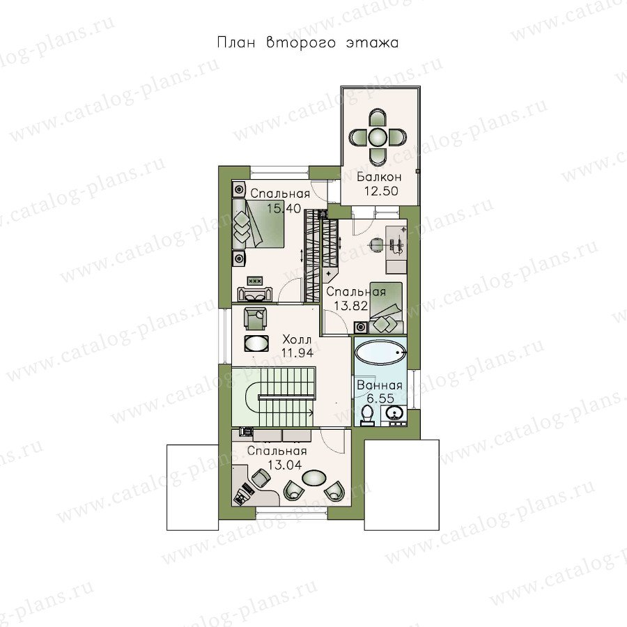 План 2-этажа проекта 48-05