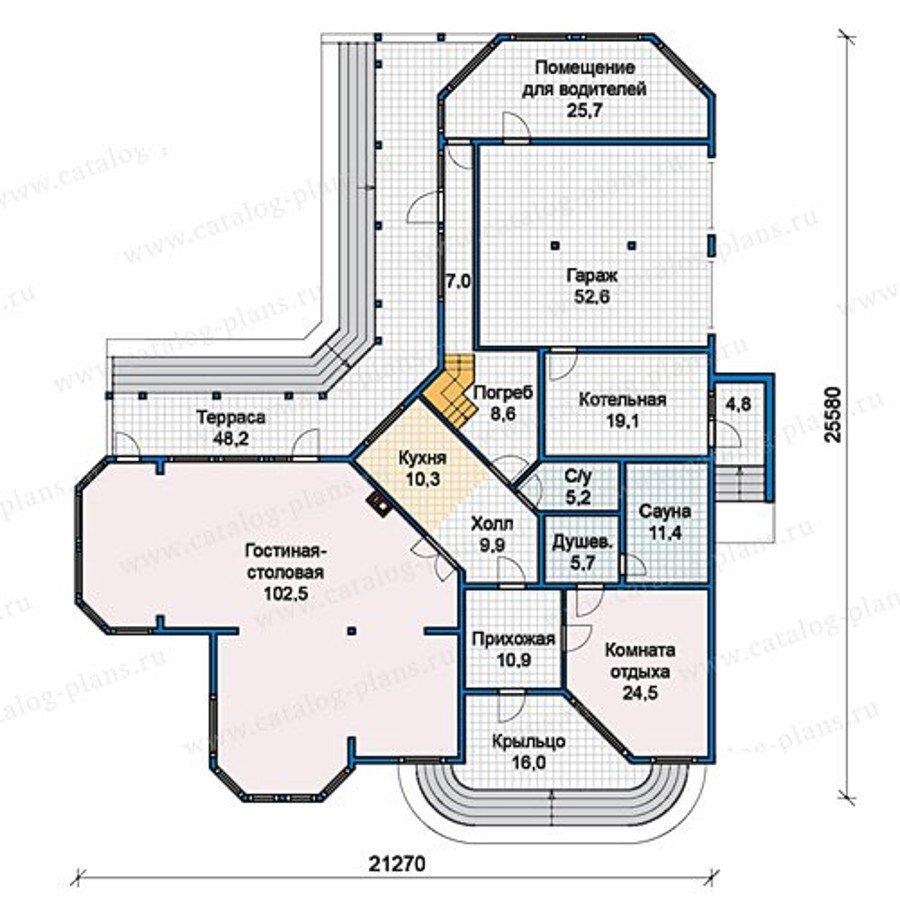 План 1-этажа проекта 13-18