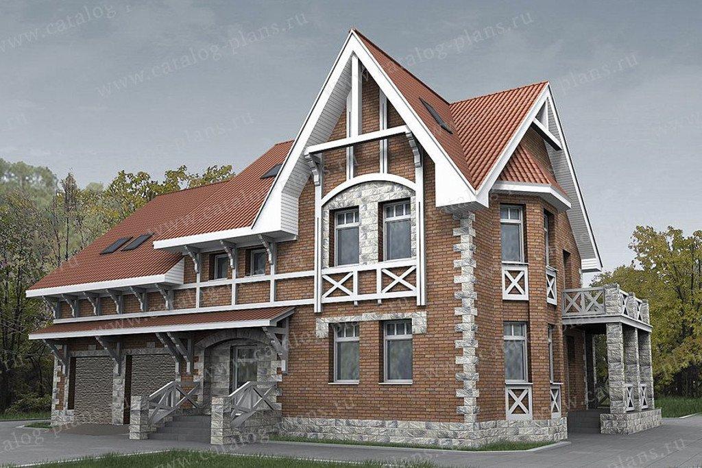 Проект жилой дом #49-87A материал - кирпич, стиль немецкий