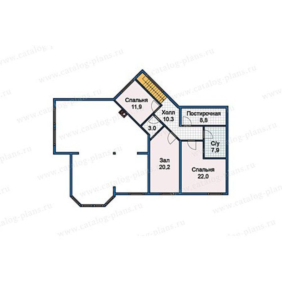 План 2-этажа проекта 13-18
