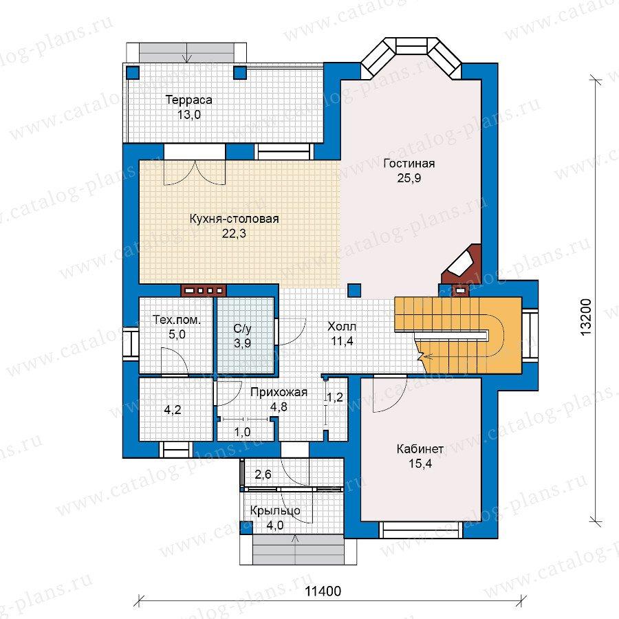 План 1-этажа проекта 48-01