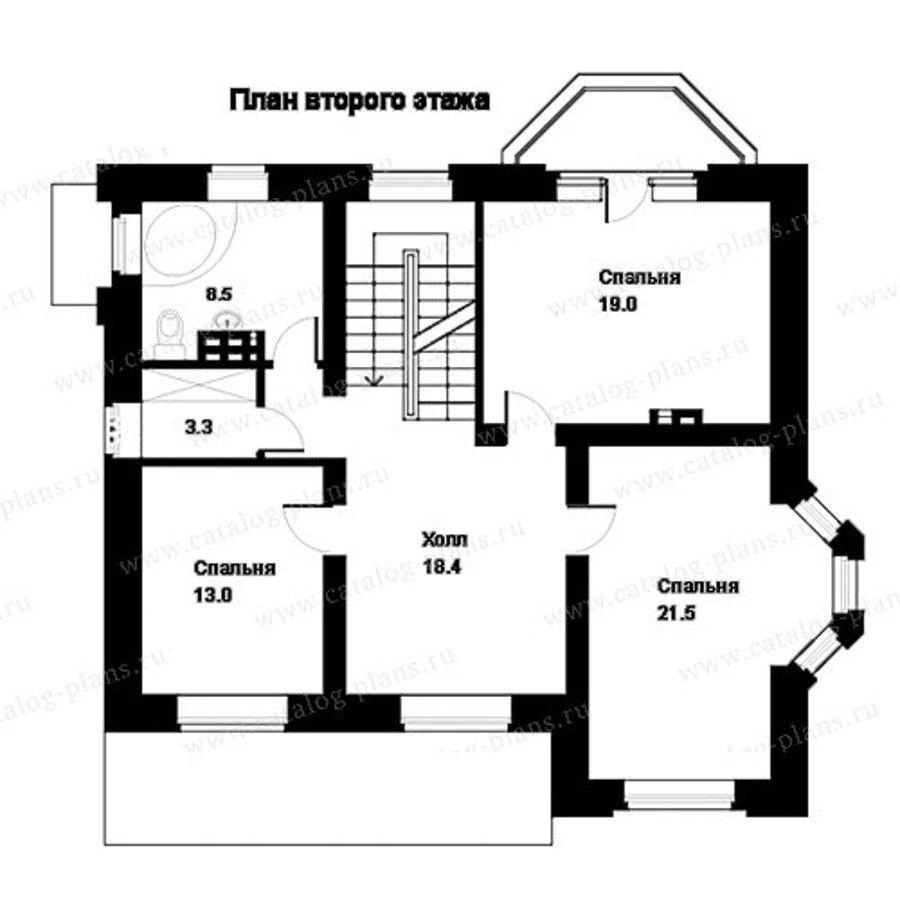 План 3-этажа проекта 49-83A
