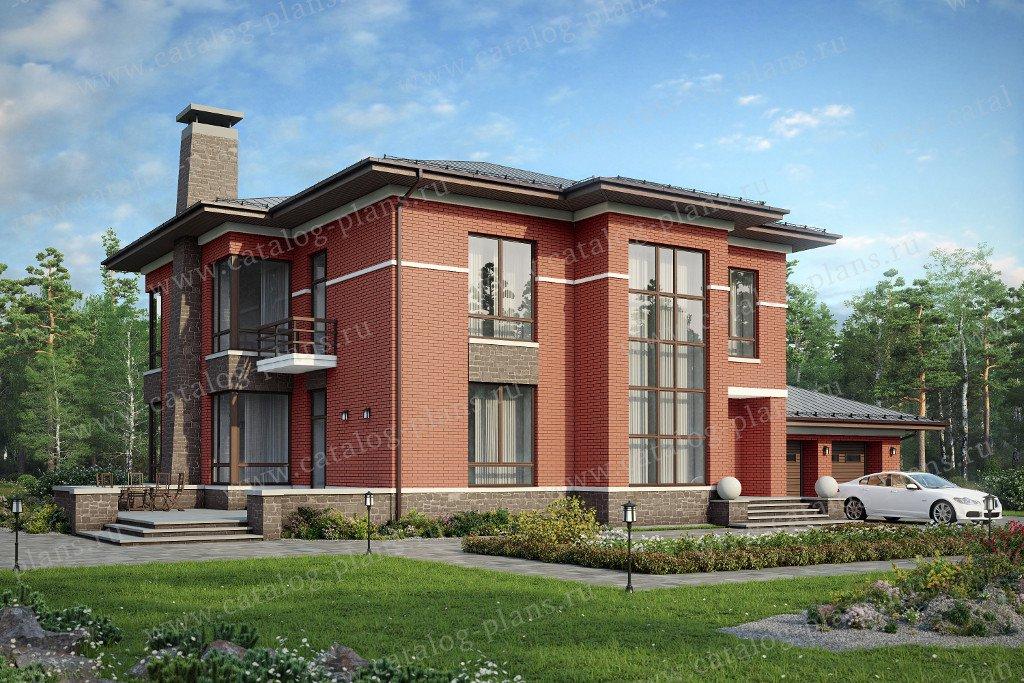 Проект жилой дом #48-30L материал - газобетон, стиль европейский
