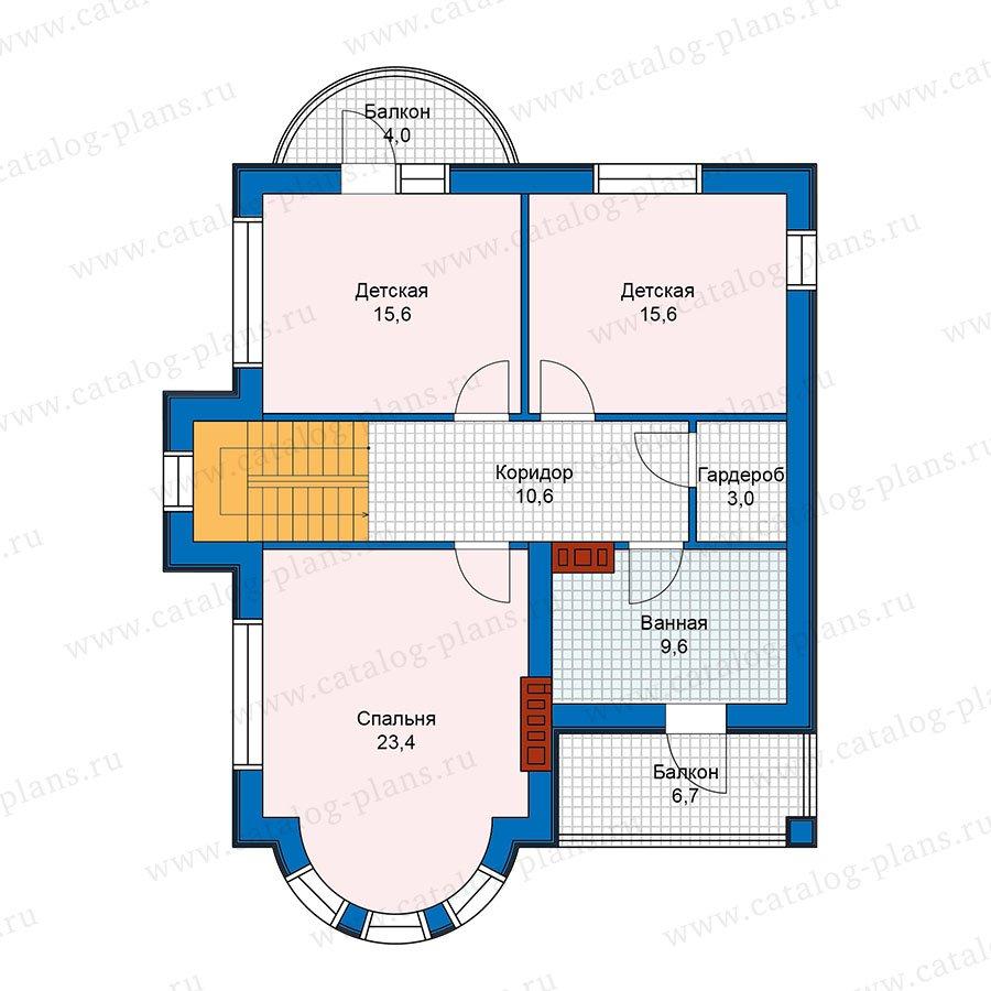 План 2-этажа проекта 48-22
