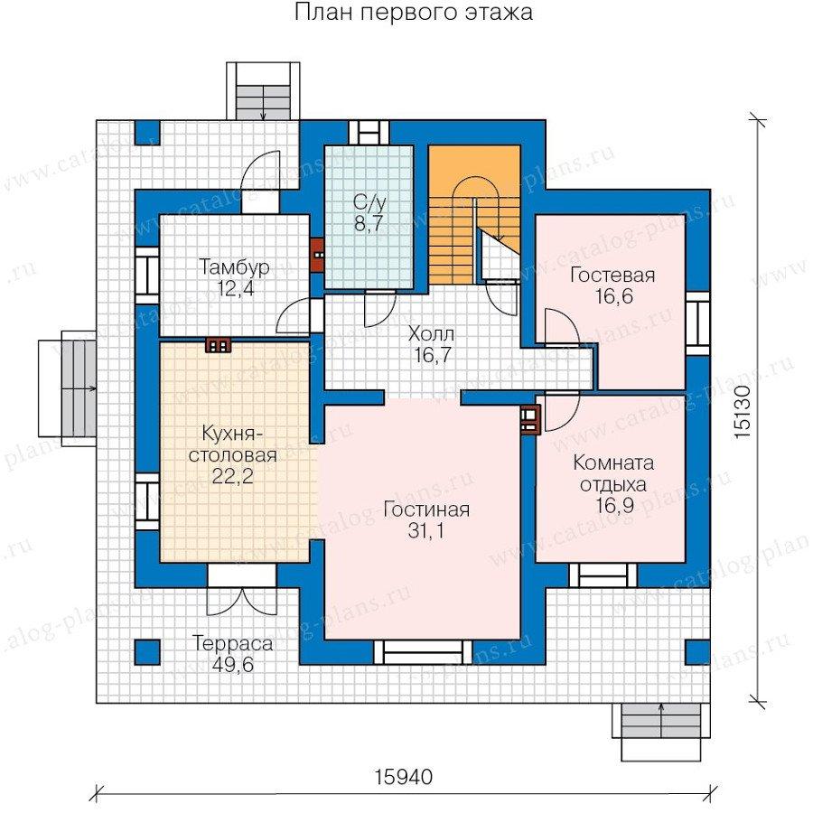 План 2-этажа проекта 48-23A