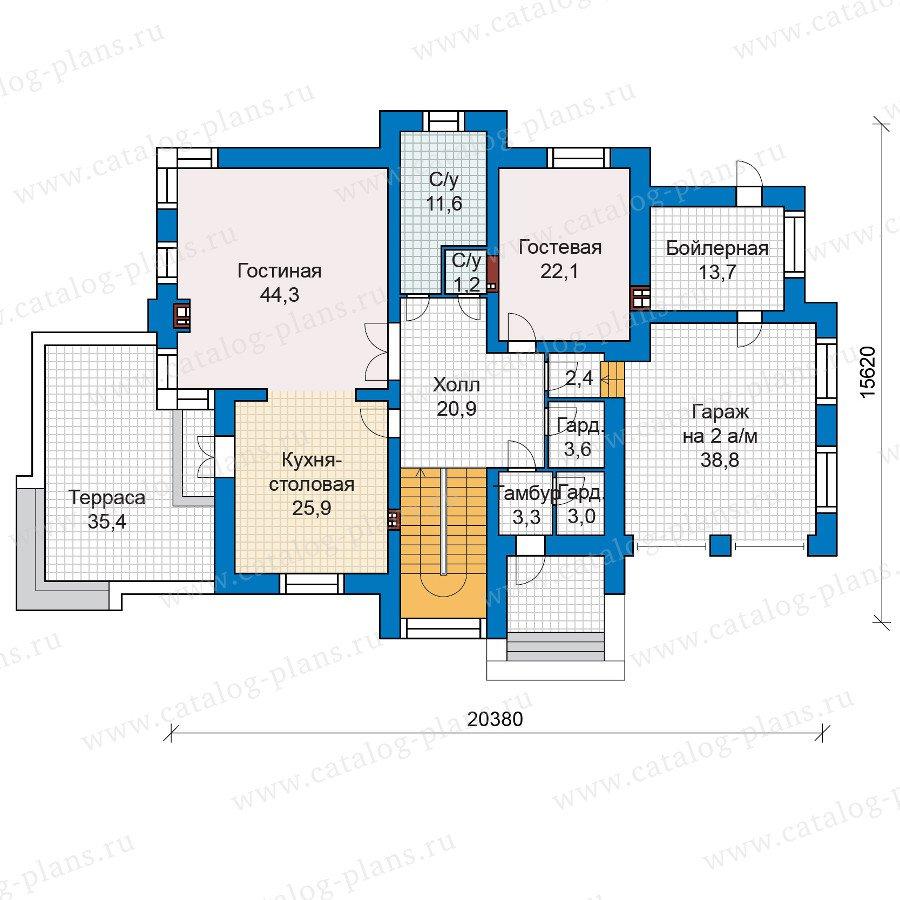 План 1-этажа проекта 48-30