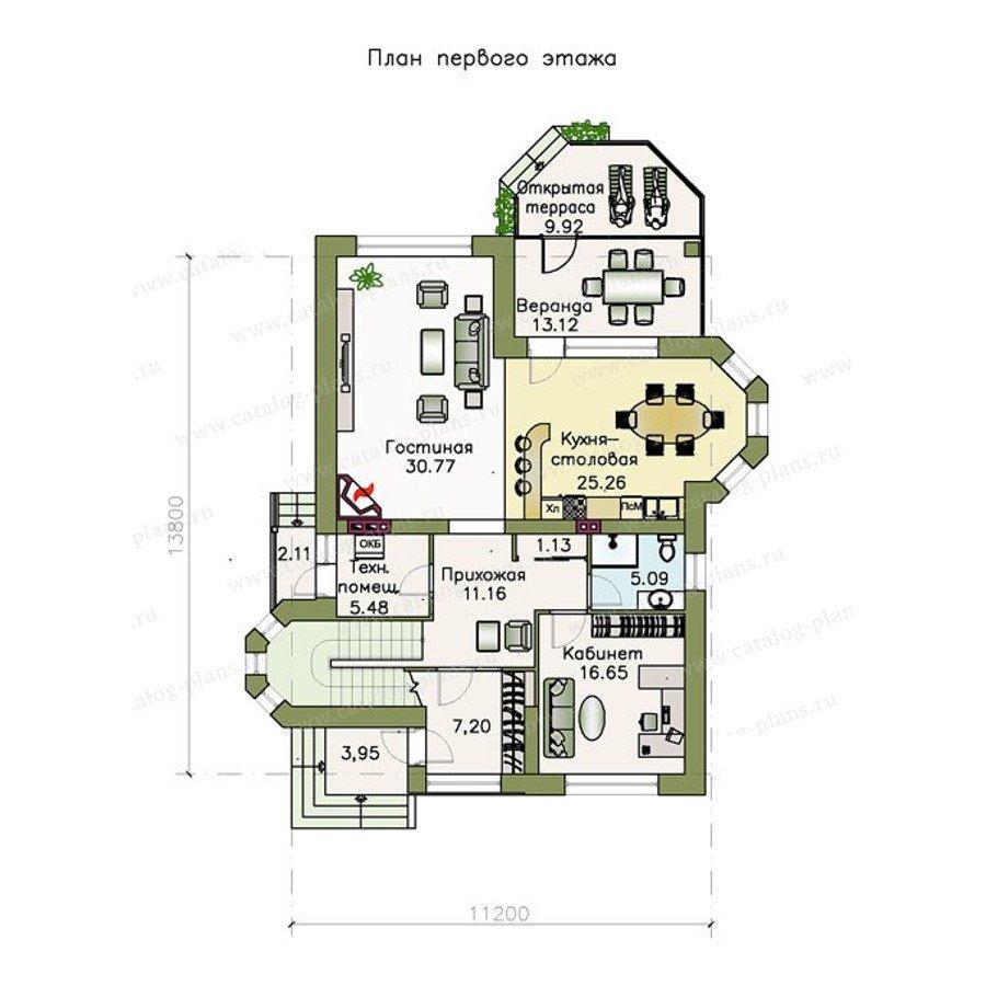 План 1-этажа проекта 48-11