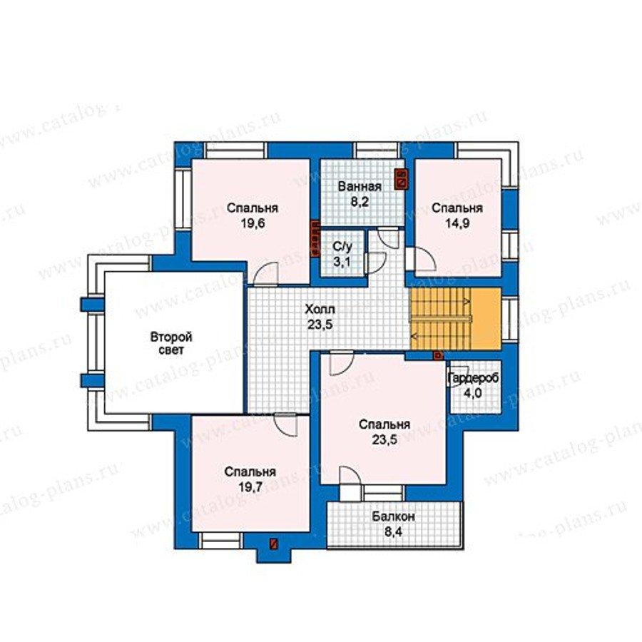 План 2-этажа проекта 48-24L