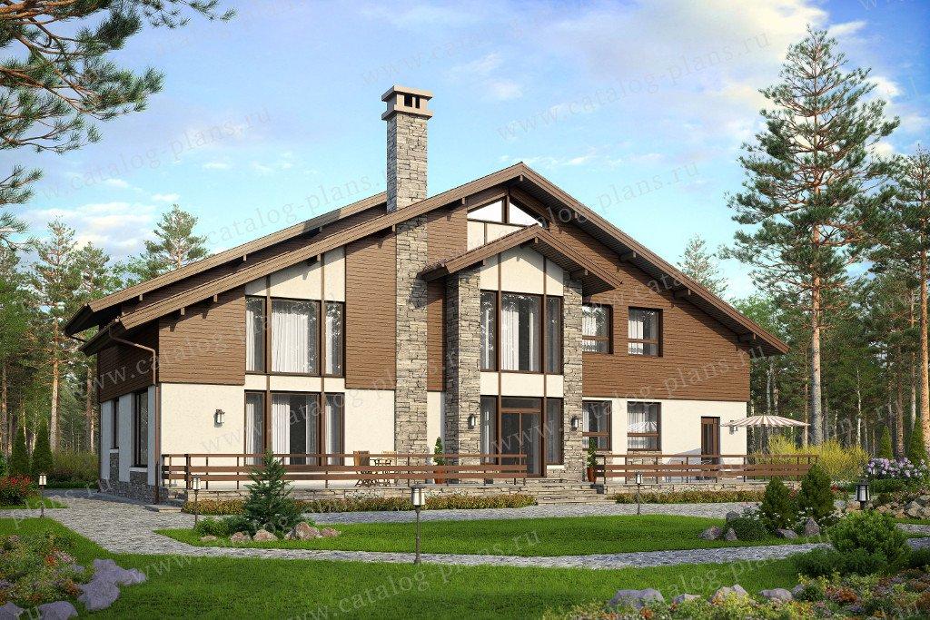Проект жилой дом #48-33 материал - кирпич, стиль европейский
