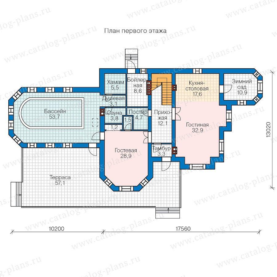 План 1-этажа проекта 48-29A