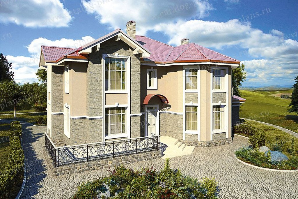 Проект жилой дом #48-26G материал - газобетон, стиль современный