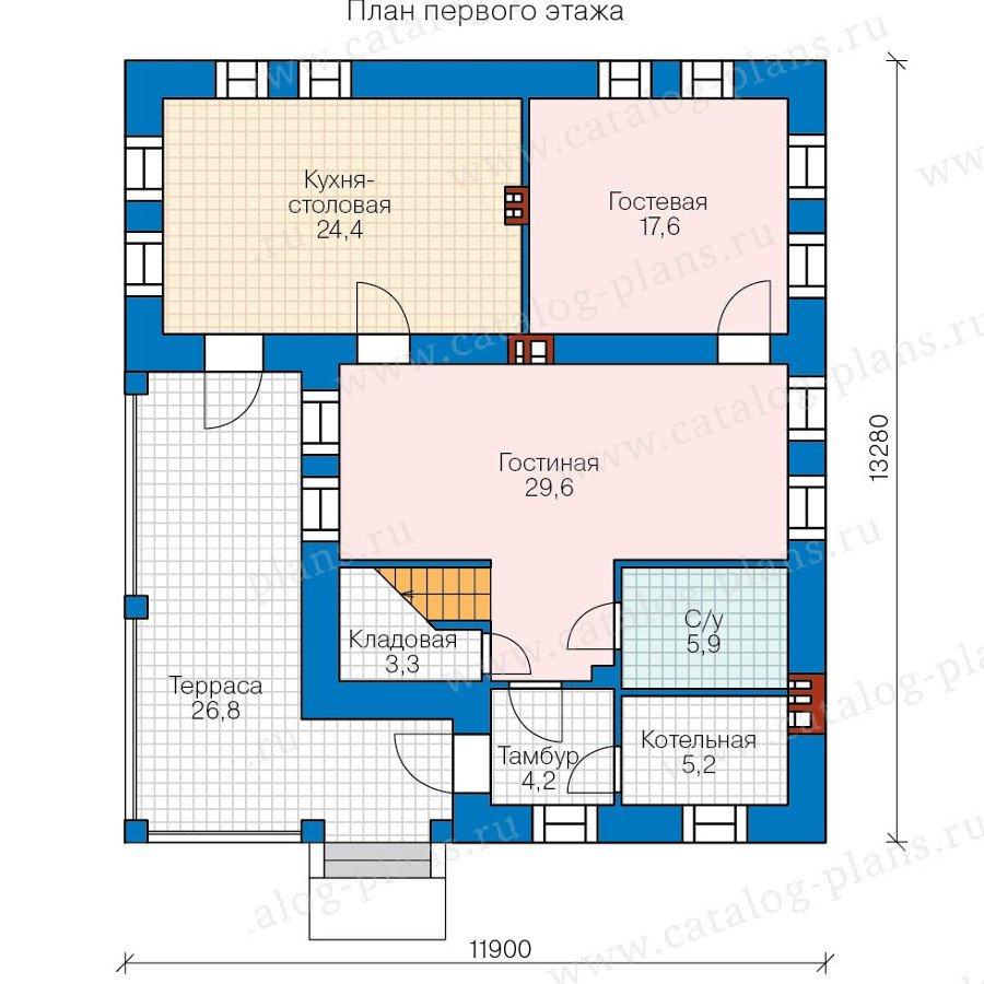 План 1-этажа проекта 48-20B