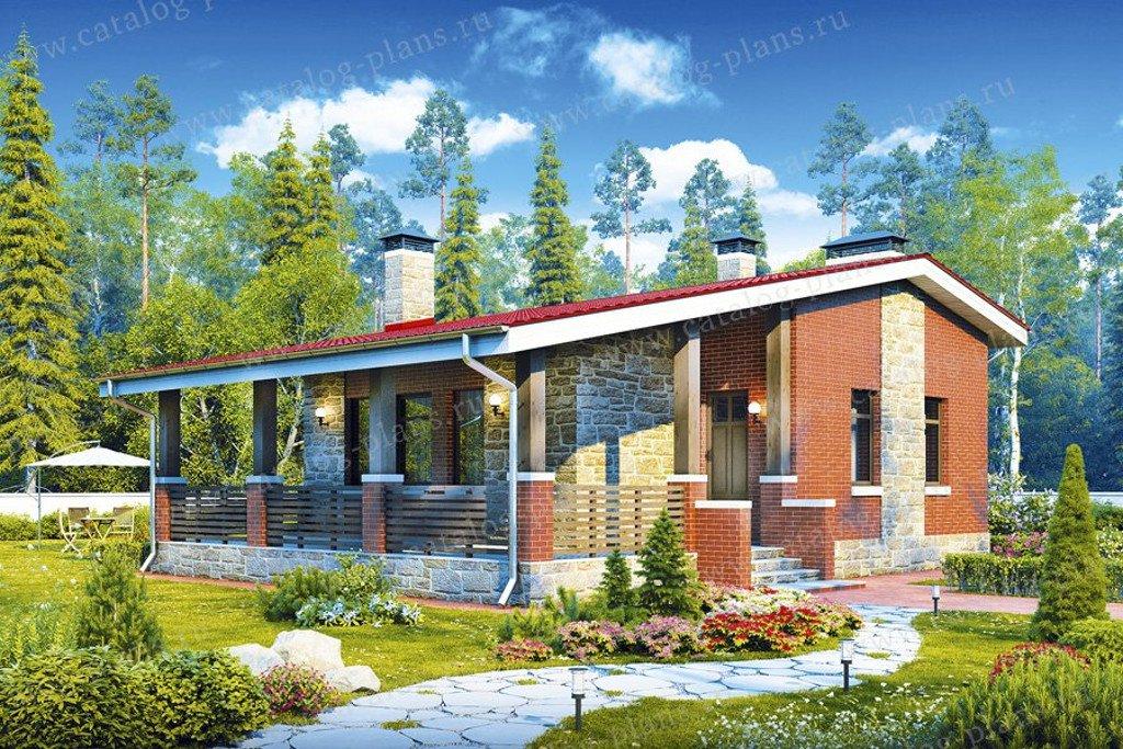 Проект жилой дом #48-19 материал - кирпич, стиль норвежский