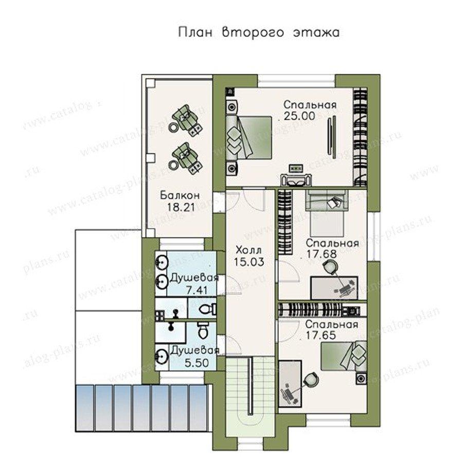 План 2-этажа проекта 48-09