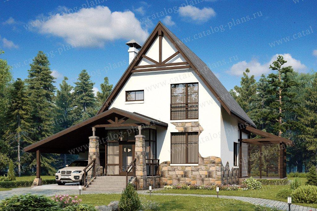 Проект жилой дом #48-12 материал - кирпич, стиль европейский