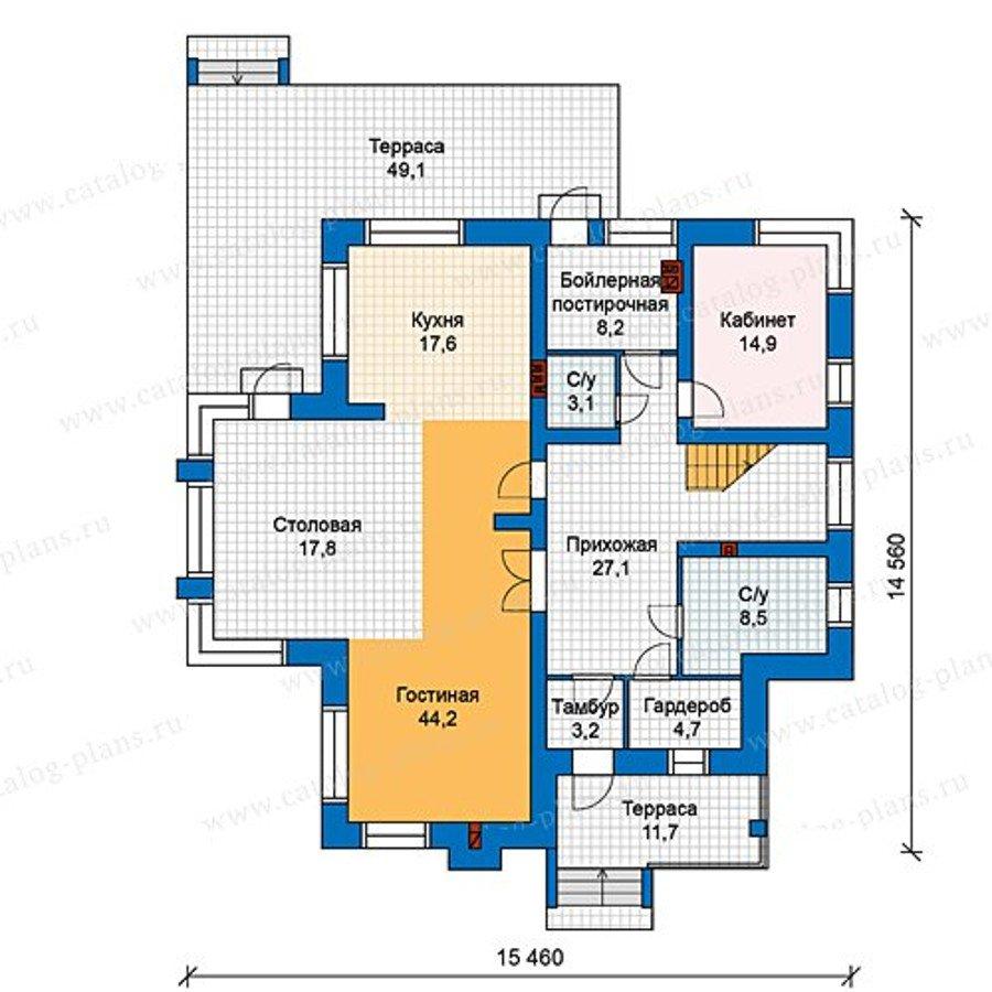 План 1-этажа проекта 48-24L