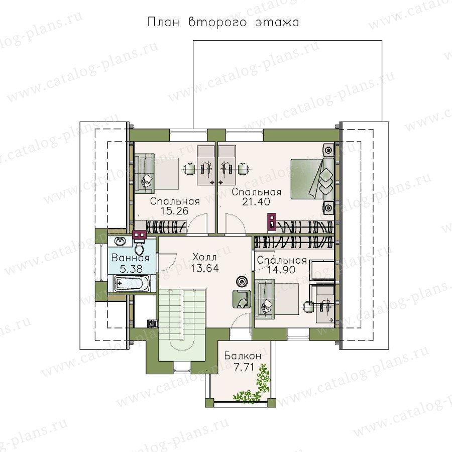 План 2-этажа проекта 48-15