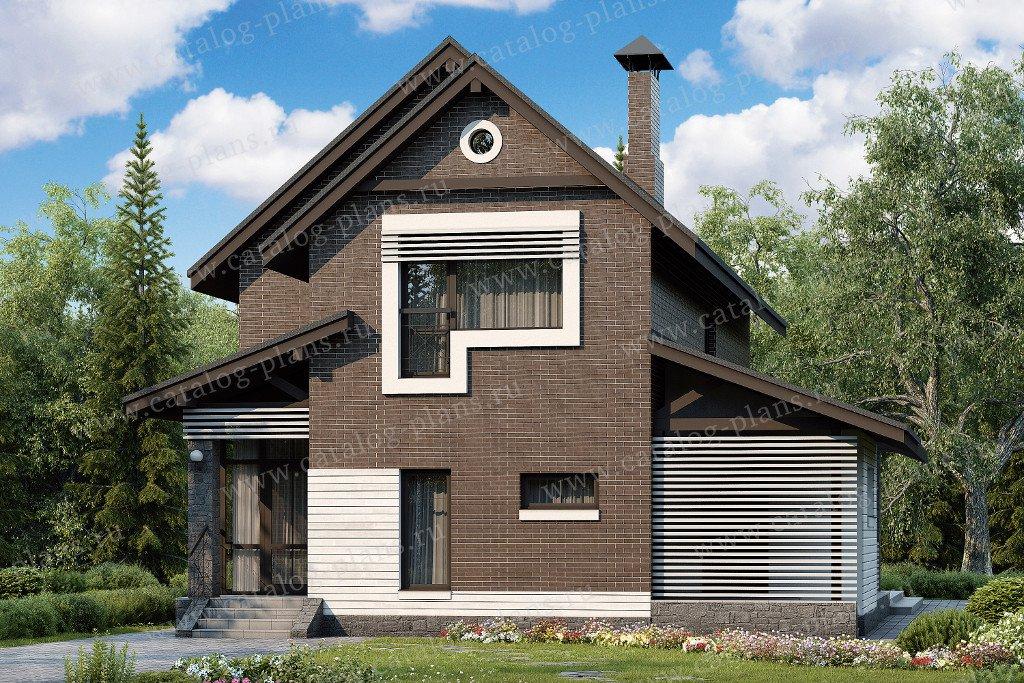 Проект жилой дом #48-08 материал - кирпич, стиль современный