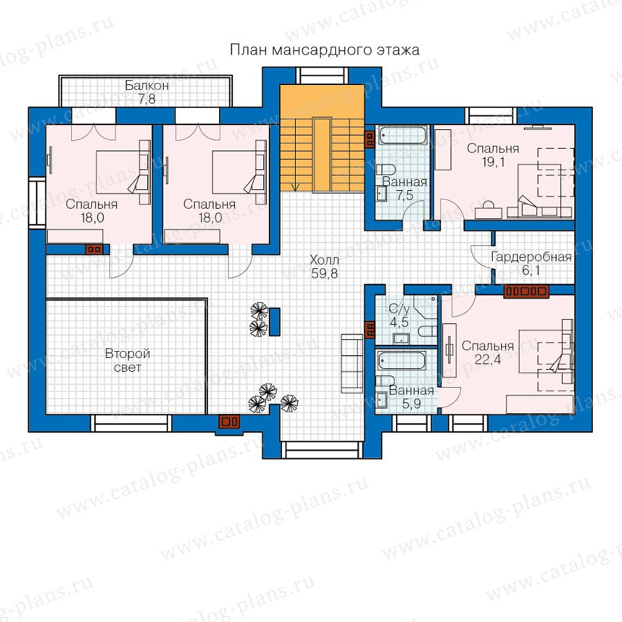 План 2-этажа проекта 48-33