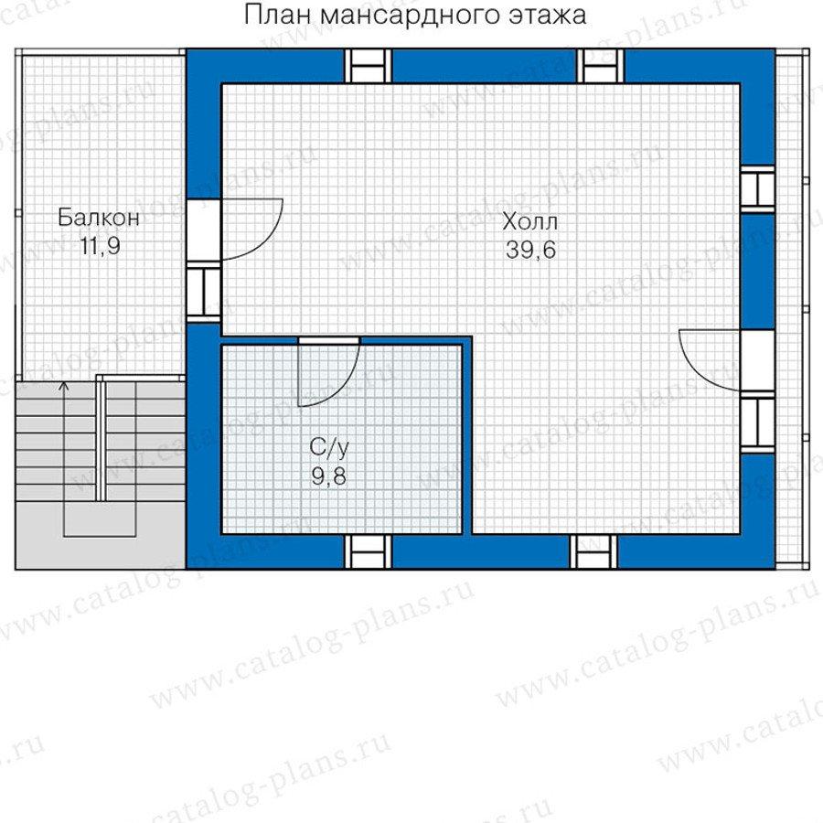 План 3-этажа проекта 48-18