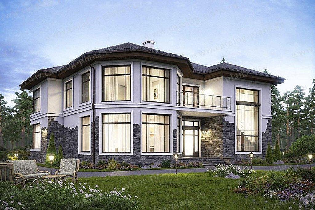 Проект жилой дом #48-21G материал - газобетон, стиль современный