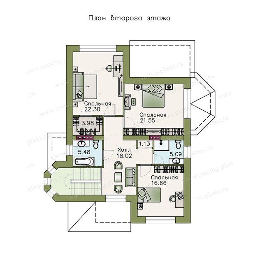 План 2-этажа проекта 48-11