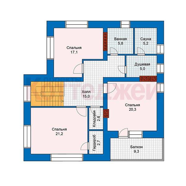 План 2-этажа проекта 48-25G