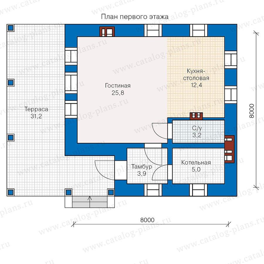 План 1-этажа проекта 48-19