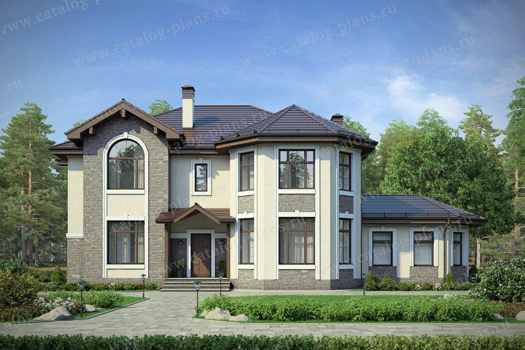 Проект жилой дом #48-29B материал - кирпич, стиль европейский