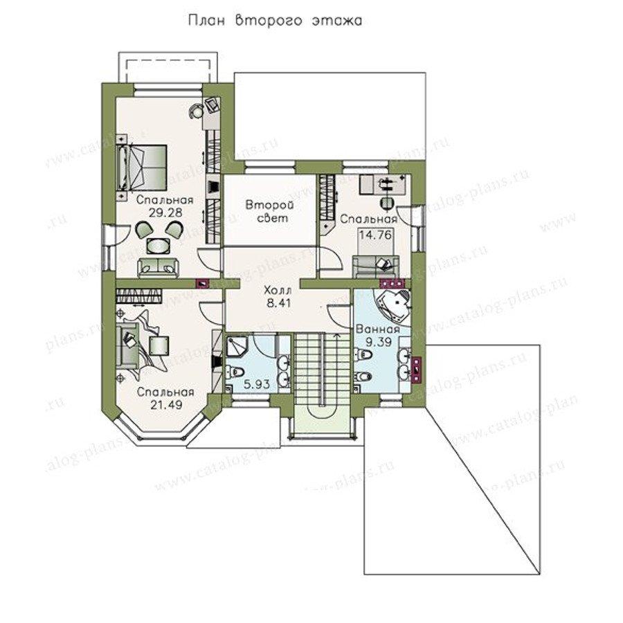 План 2-этажа проекта 47-12