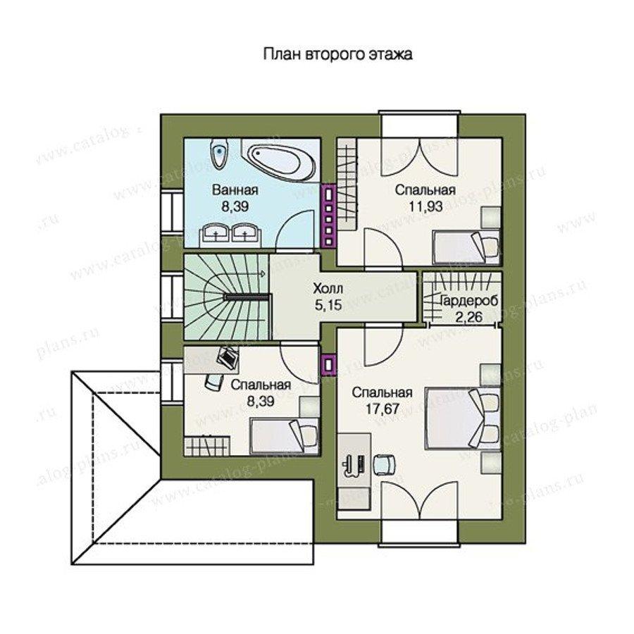 План 2-этажа проекта 47-21