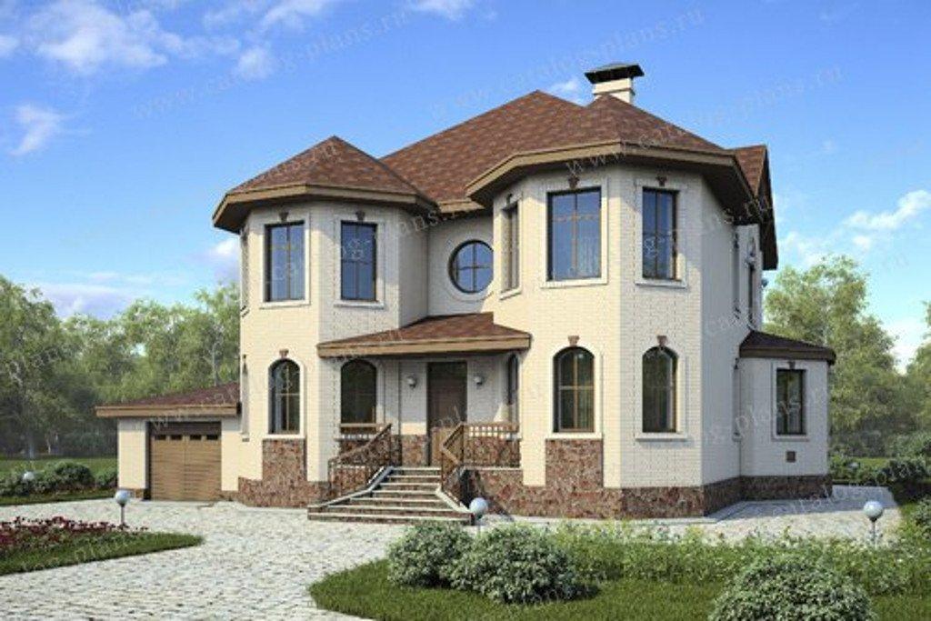 Проект жилой дом #47-09 материал - кирпич, стиль европейский