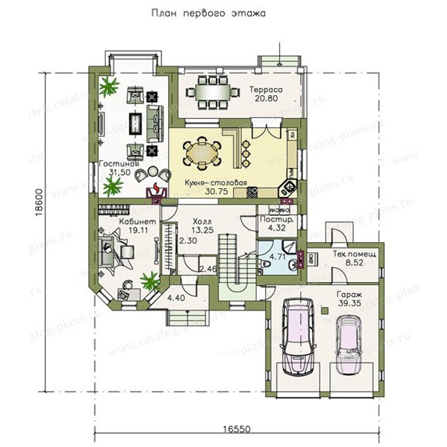 План 1-этажа проекта 47-12