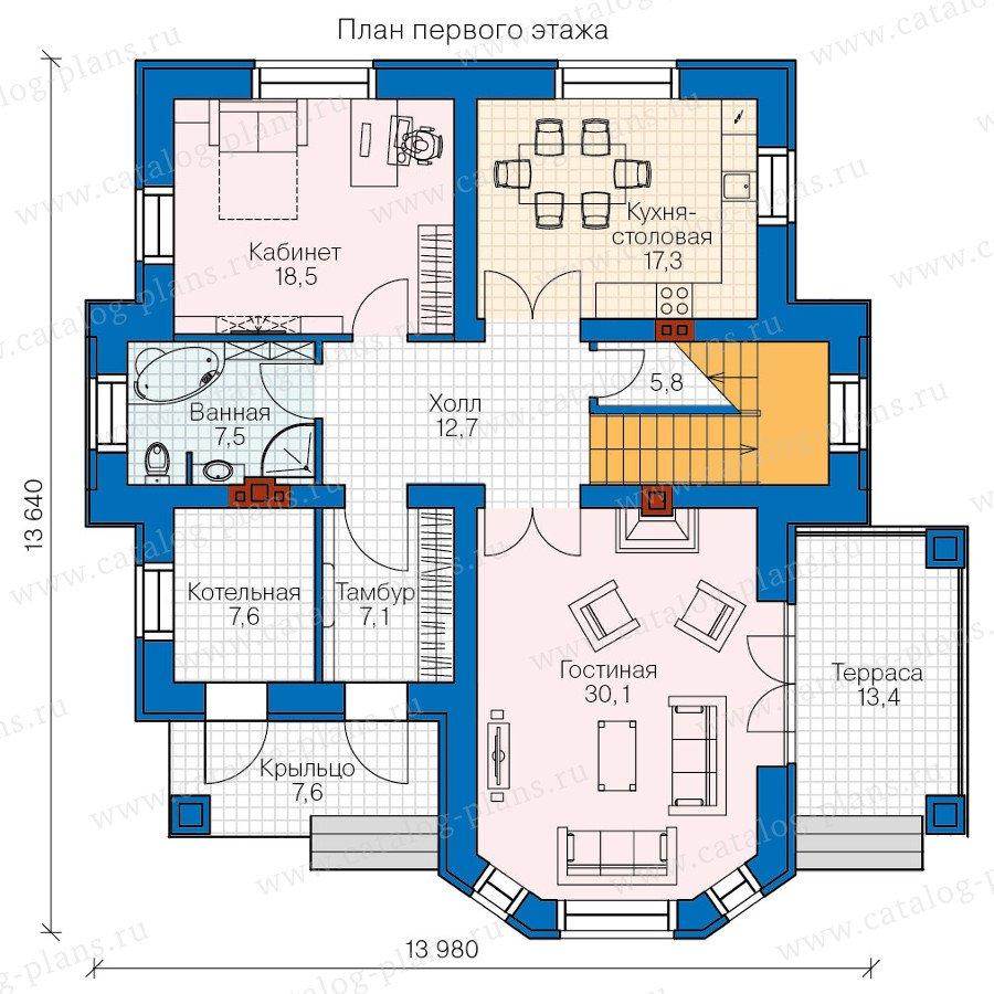 План 1-этажа проекта 47-32