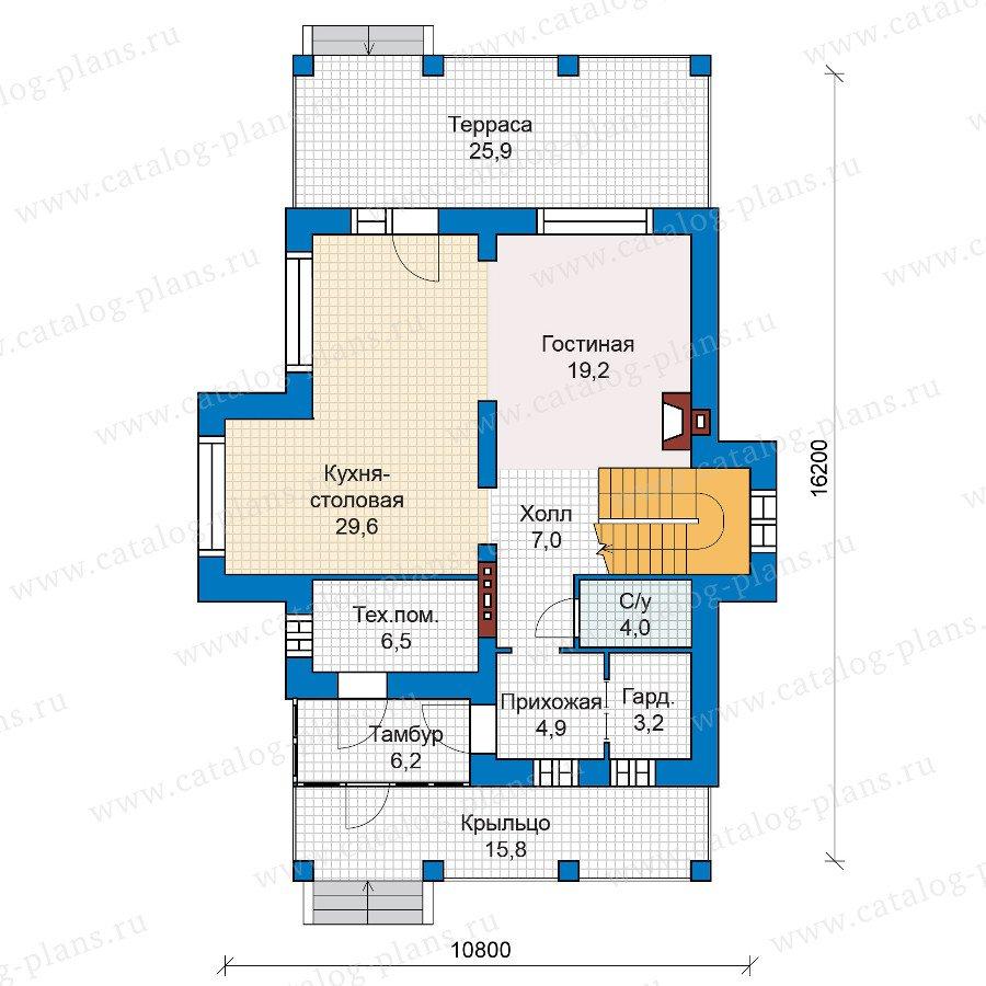 План 1-этажа проекта 47-01