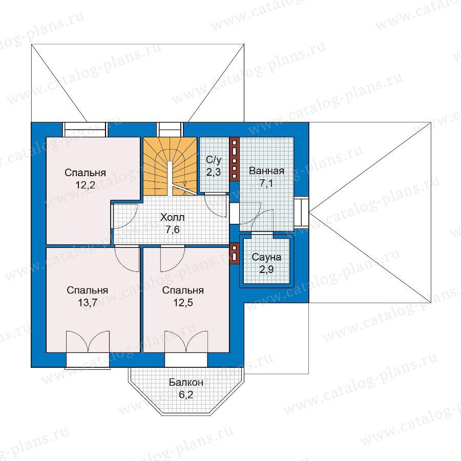 План 2-этажа проекта 47-20